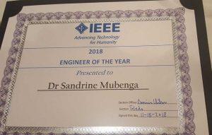 IEE Engineer of the Year Award Certificate